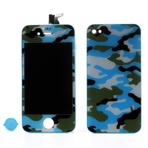 Navy Camouflage Conversion Kit for iPhone 4 (LCD Assembly + Battery Cover + Home Button)