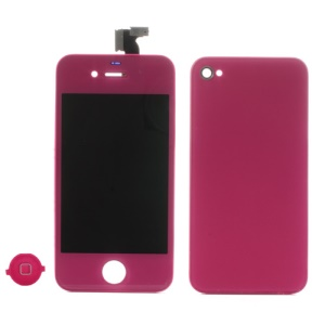 Rose for iPhone 4 Colored Conversion Kit (LCD Assembly + Battery Cover + Home Button)