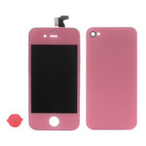 Pink for iPhone 4 Colored Conversion Kit (LCD Assembly + Battery Cover + Home Button)