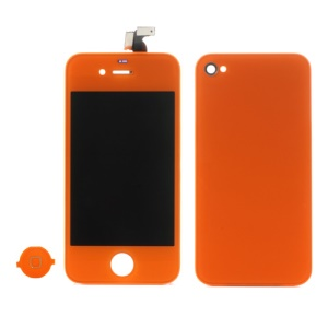 Orange for iPhone 4 Colored Conversion Kit (LCD Assembly + Battery Cover + Home Button)