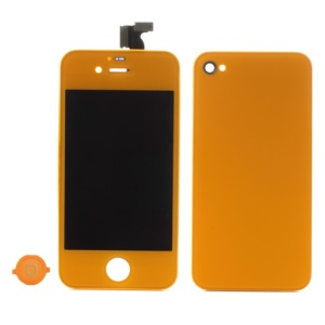 Light Orange for iPhone 4 Colored Conversion Kit (LCD Assembly + Battery Cover + Home Button)