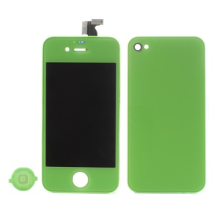 Green for iPhone 4 Colored Conversion Kit (LCD Assembly + Battery Cover + Home Button)