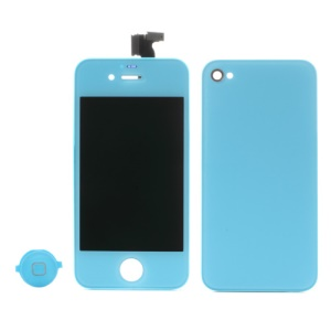 Baby Blue for iPhone 4 Colored Conversion Kit (LCD Assembly + Battery Cover + Home Button)