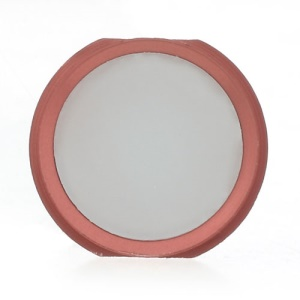 iPhone 5s Style Home Button Replacement Part for iPhone 4 - Pink / White