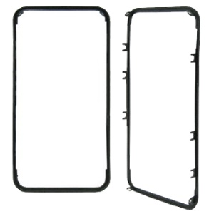 For iPhone 4 Supporting Frame Bezel Replacement - Black