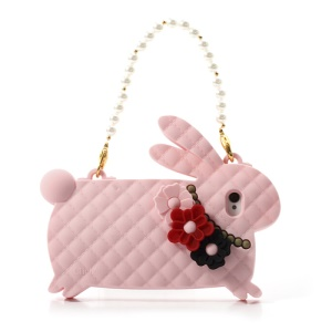 Pink Candies Cliche Miss Rabbit for iPhone 4 4S Silicone Case Handbag