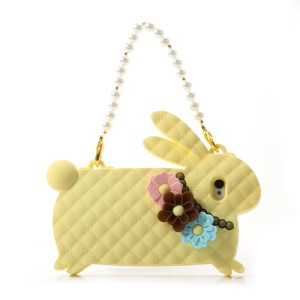 Yellow Candies Cliche Miss Rabbit for iPhone 4 4S Silicone Cover Handbag
