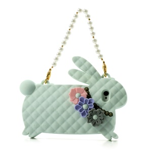 Light Green Candies Cliche Miss Rabbit for iPhone 4 4S Silicone Cover Handbag