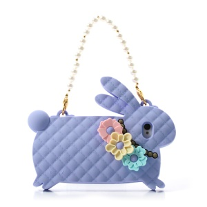 Purple Candies Cliche Miss Rabbit for iPhone 4 4S Silicone Cover Handbag