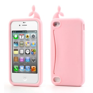 Pink Joosepino Feed Me Whale for iPhone 4 4S Silicone Cover