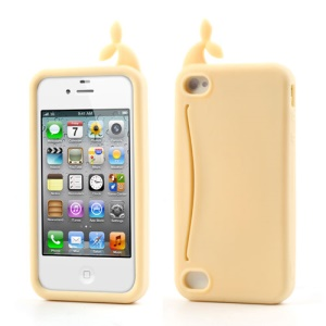 Beige Joosepino Feed Me Whale for iPhone 4 4S Silicone Skin Case