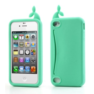 Green Joosepino Feed Me Whale for iPhone 4 4S Silicone Skin Case