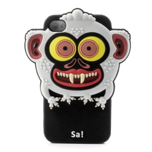 3D Airzooo Monster Monkey Silicone Shield Case for iPhone 4 4S
