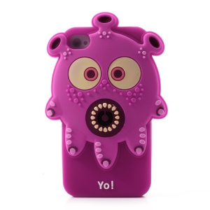 3D Airzooo Monster Octopus Silicone Cover for iPhone 4 4S