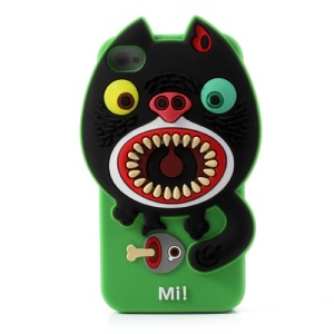 Airzooo Monster 3D Cat Silicone Protective Case for iPhone 4 4S