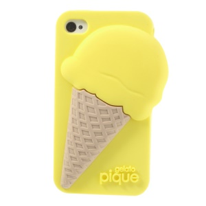 Gelato Pique Tasty Ice Cream Soft Silicone Cover for iPhone 4 4S - Yellow