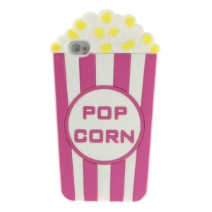 Rose Vivid 3D Popcorn Silicone Cover Case for iPhone 4s 4