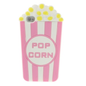 Pink Vivid 3D Popcorn Silicone Case Shell for iPhone 4s 4