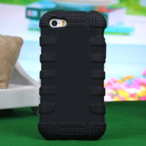 Impact-resistant Silicone Case for iPhone 4s 4 - Black
