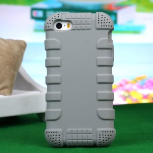 Impact-resistant Silicone Case for iPhone 4s 4 - Grey