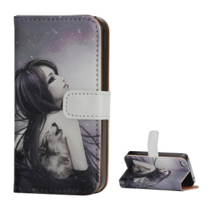 Tattooed Classic Beauty Wallet Leather Stand Case for iPhone 4 4S