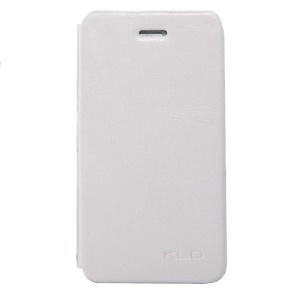 White KLD England Series for iPhone 4s 4 Leather Flip Case
