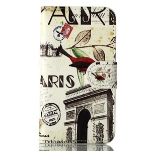 Triumphal Arch & Bird for iPhone 4s 4 Magnetic Wallet Leather Flip Cover w/ Stand