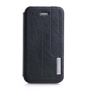 MOTOMO Folio Stand PU Leather Case for iPhone 4 4s - Black