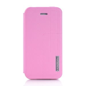 MOTOMO Protective PU Leather Stand Case for iPhone 4 4s - Pink