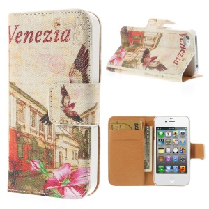 Venezia Street for iPhone 4s 4 Leather Wallet Stand Phone Cover