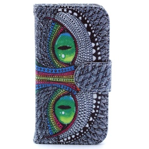 Leather Magnetic Flip Stand Wallet Case for iPhone 4s 4 - Cheshire Cat
