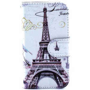 Magnetic Flip Leather Case Cover for iPhone 4s 4 - Famous Eiffel Tower