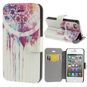 Dreamcatcher Painting Leather Stand Case for iPhone 4s 4
