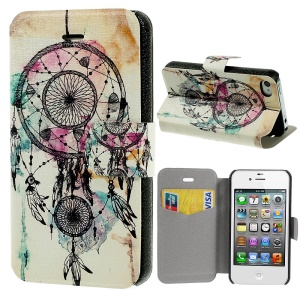 Wind Chimes Leather Stand Cover for iPhone 4s 4