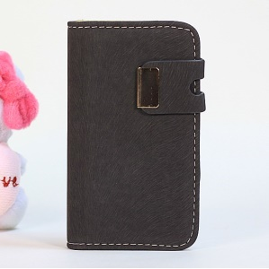 Squirrel Texture Magnetic Flip PU Leather + PC Shell for iPhone 4s 4 - Grey
