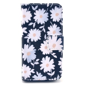 Pretty Daisy Folio Stand Wallet Leather Cover for iPhone 4s 4