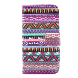 Tribal Tribe Leather Stand Cover w/ Card Slots for iPhone 4s 4
