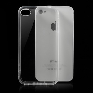 Transparent TPU Edges & Crystal PC Back Hybrid Case for iPhone 4 4S