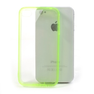 Green for iPhone 4 4S Soft TPU Edges & Crystal Hard Back Case