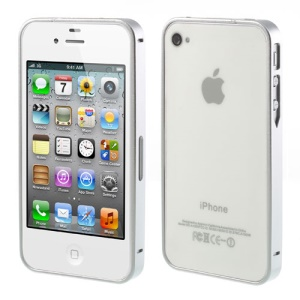 Silver Buckle Closure Slim Metal Bumper Case for iPhone 4 4s