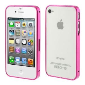 Rose Buckle Closure Slim Metal Bumper Case for iPhone 4 4s