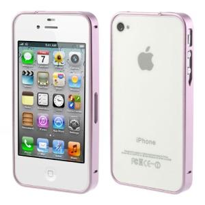 Pink Buckle Closure Slim Metal Bumper Frame for iPhone 4 4s