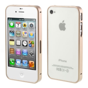 Champagne Buckle Closure Slim Metal Bumper Frame for iPhone 4 4s