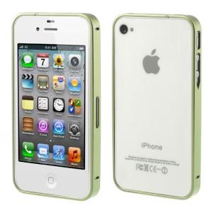 Green Buckle Closure Slim Metal Bumper Frame for iPhone 4 4s
