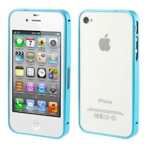 Blue Buckle Closure Slim Metal Bumper Frame for iPhone 4 4s