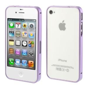 Purple Buckle Closure Slim Metal Bumper Frame for iPhone 4 4s