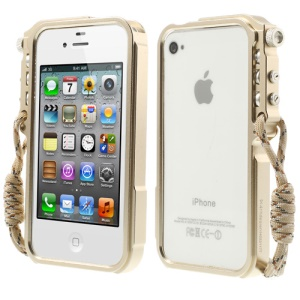 4thdesign TRIGGER Case Premium Metal Bumper for iPhone 4 4S - Champagne Gold
