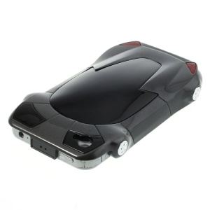 Sports Car Shape Hard Plastic Shell for iPhone 4 4S - Black
