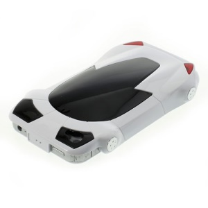 Sports Car Shape Hard Plastic Cover for iPhone 4 4S - White