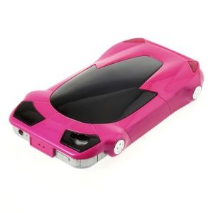 Sports Car Shape Plastic Phone Case for iPhone 4 4S - Hot Pink